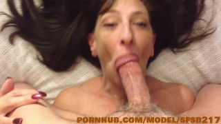 Sexy Step Mom sucks the cum out of piano mans big cock