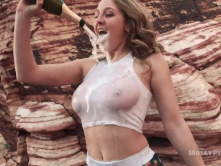 Horny Hikers Caught Fucking in Public Twice! - Molly Pills - POV