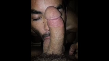 KNEELING SUCKING AND GAGGING TO ONE OF MY FAVORITE DICKS