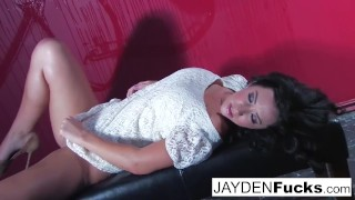 Jayden Jaymes Gets Naughty Against a Red Wall Off tscam4free