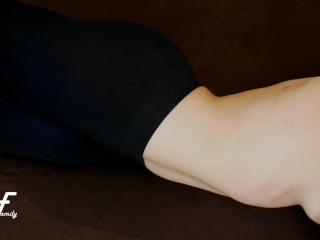 Crossed Legs Orgasm in Black Sport Leggings ~DirtyFamily~
