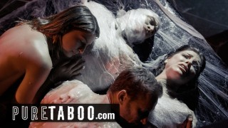 Screen Capture of Video Titled: PURE TABOO Alien Couples Must Perform Live Sex Shows