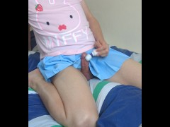cute crossdresser edges and ruins an orgasm for you