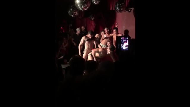 Gay uk sex parties - Public sex on stage at sexparty