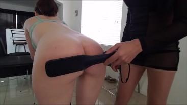 Head Mistress spanks bratty female