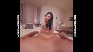 Deep throat VR glamour porn shows Ania Kinski lick your balls in 4K POV Fuck ball