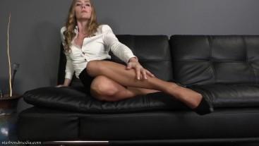 Secret Office Wear JOI - Worn Pantyhose Domination Star Nine FULL VIDEO