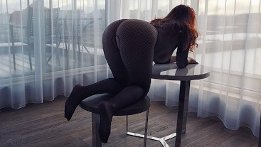 Quick Table DoggyStyle Creampie | Perfect Ass PAWG Redhead Milf GingerAle23