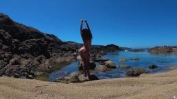 TRAVEL NUDE - Young Nudist girl on the wild coast Ocean / Sasha Bikeeva