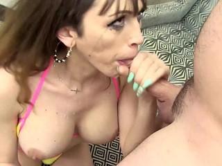 Shemale kylie maria deepthroats cock...
