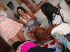 Twister Party at Sandra´s place lots of upskirts panties and no panties