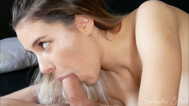 Silicone huge cock pump Mind-blowing tongue and suction bj watch his cock pumping cum
