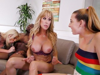 Pornstar Video Blog Melody Parker, Brandi Love & Cammille Austin Interracial Foursome