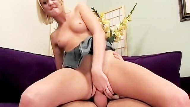 Flat chested blonde amateur fucked hard by a big dick