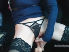 ANAL SELF FUCK IN REAL TAXI: PUBLIC ANAL MASTURBATION (NOT FAKE TAXI)