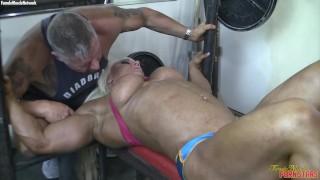Muscular Female Bodybuilder Porn Star Gets A Big Clit Cum Shot