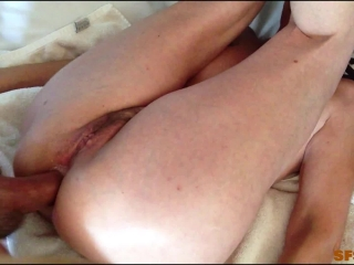 Shadow fills sexy milf Marie's tight ass with cum (REAL COUPLE)