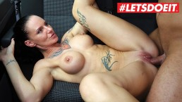 LETSDOEIT - German MILF Gets Cum Covered In PICKUP And FUCK In The Bus