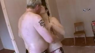 Pie face sploshing couple ass
