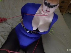 Catwoman tied up