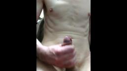 Skinny boy jerk off