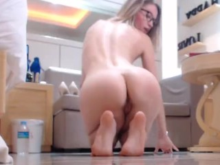 Ass and foot tease - foot fetish & big oiled ass fetish by EroticTanya