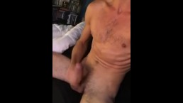 Hung Twink Milking His Morning Wood