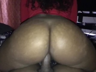 Brunetee condom thick ebony getting super wet pussy beat, dripping wet pussy bubble butt reverse