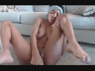 Black girl with dildo