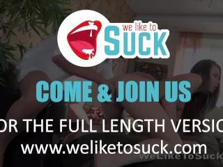 Fingered hottie squirts and sucks cock – Cumshot
