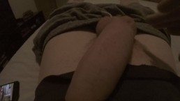 Playing and cock slapping my huge thick british cock