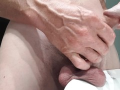Shaving my balls! No cum but some nice close Aussie cut cock play!