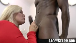 LACEYSTARR - Glamorous grandma anally creampied with BBC