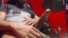 Almost got caught jerking off to porn (long dick)