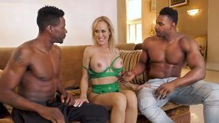 Brandi Love Works On Two Big Black Cocks - Cuckold Sessions