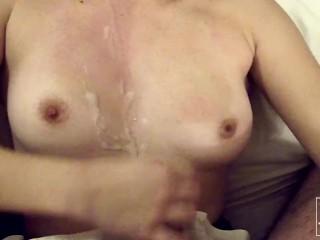 Ponr Xnxx Com I Wake Him Up To Cum On My Tits, Amateur Brunette Blowjob