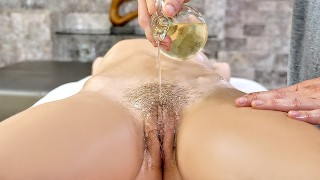 Massage penis with pussy
