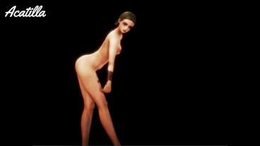 Harley Q. Dancing 3D CGI