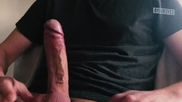 Dirty talk & masturbating ends in huge cumshot.