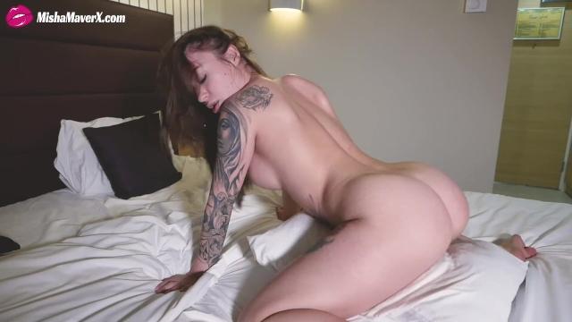 Tatto Girl Riding Pussy Her Pillow - Misha Maver - Pornhubcom-1130