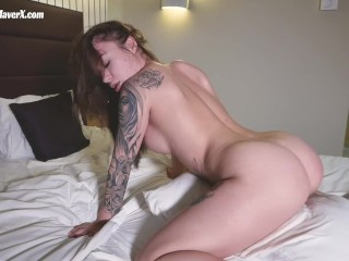 Tatto Girl Riding Pussy her Pillow - Misha Maver