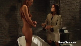 The Education of Adela: Lesbian Mistress Unties Slave After Slave Training