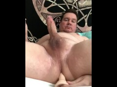 Cumming With Dildo Deep In Asshole