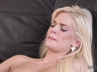 DADDY4K. Beautiful chick wanted to taste old dick inside her snatch