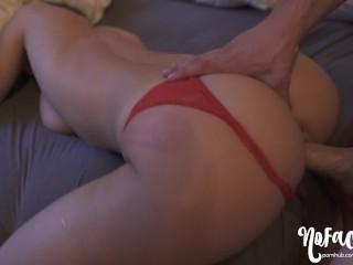 He Cums On My Back Then Fucks Me Till I Cum - Amateur NoFaceGirl