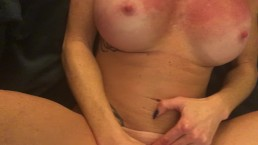 I squirt with my toy and daddy helps me womanizer POV redhead tattoo