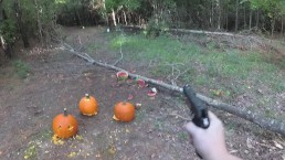 Pumpkin Carving Contest with GUNS!