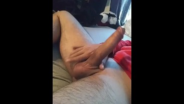 my uncut dick so hard in my inlaws bed before they come from work snapchat