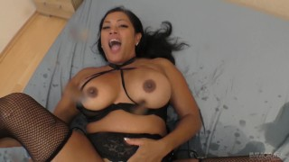 Cambodian - Canadian MILF squirting on a dick
