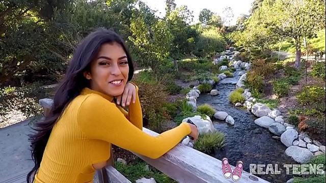 Real Teens - Latina Teen Sophia Leone POV blowjob